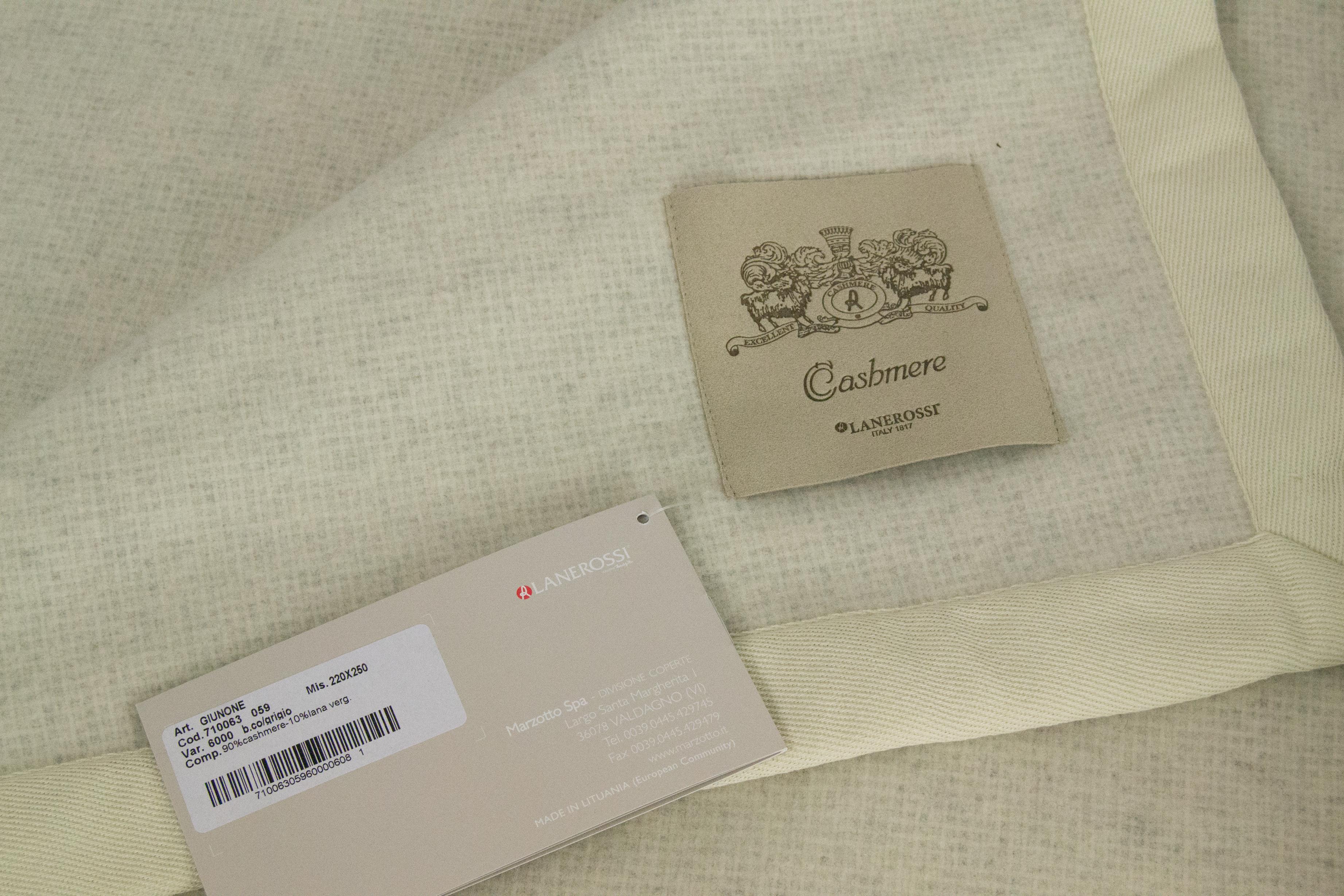 Coperta matrimoniale Lanerossi in Cashmere mod. Giunone - Punto Bianco fb90b45e124