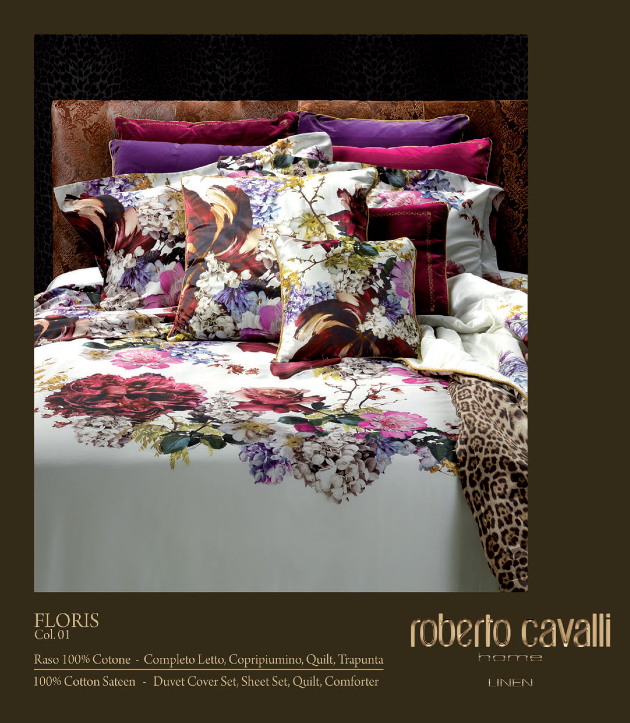 Copripiumino Matrimoniale Con Cavalli.Collezione Floris Di Roberto Cavalli Home In Omaggio Set Spugna