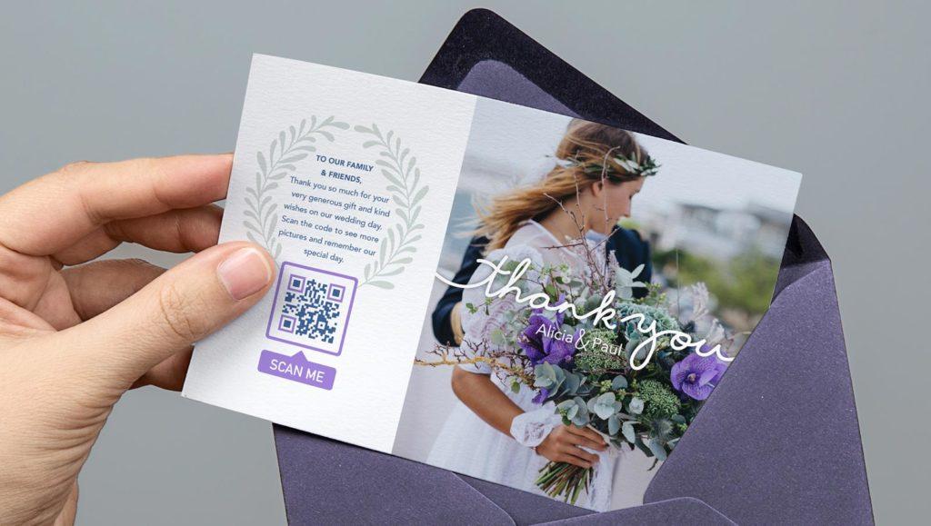QR Code idea on wedding invitations