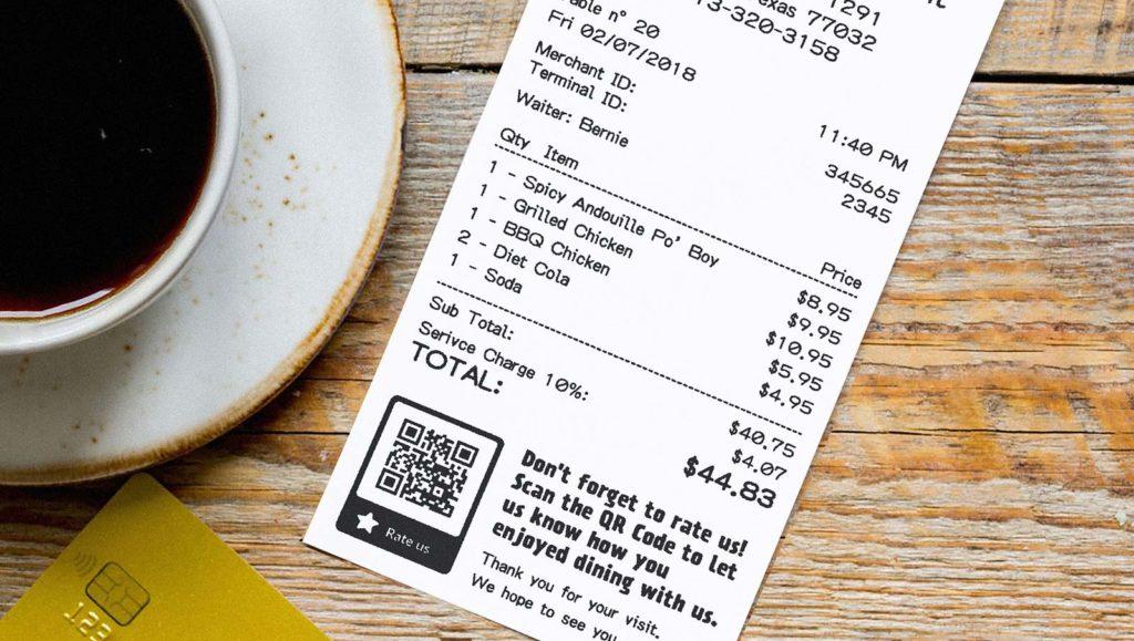 QR Code idea on a customer receipt