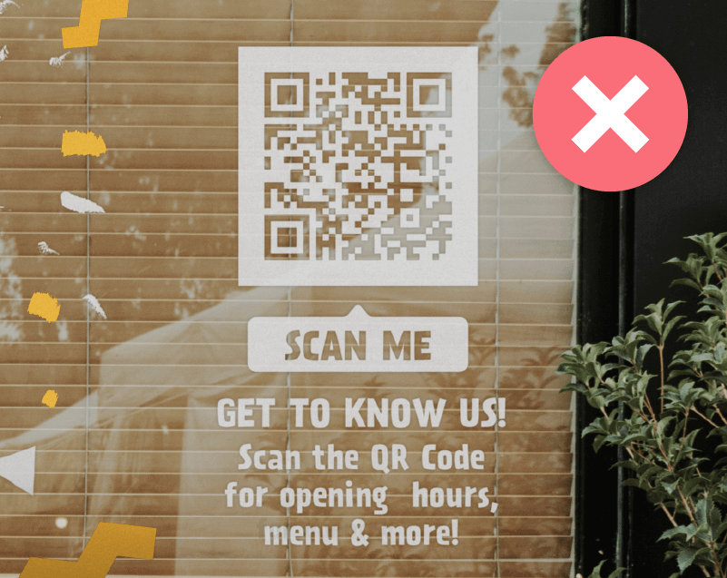 QR Codes on reflective materials needs to be printed on a solid background to remain scannable