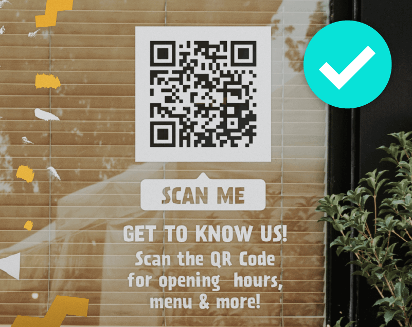 QR Codes on reflective materials don't scan well