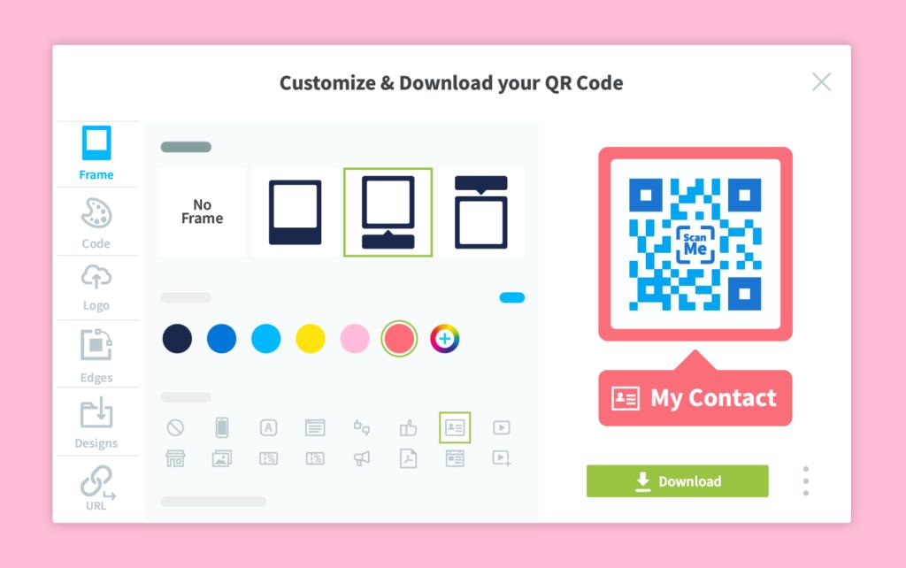 Full QR Code customization with QR Code Generator PRO