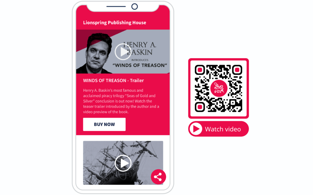 Video QR Code example and its landing page from QR Code Generator PRO