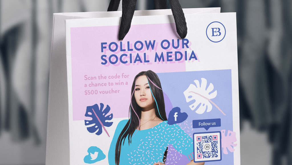 Product print ads can now use rich media elements with Social Media QR Codes