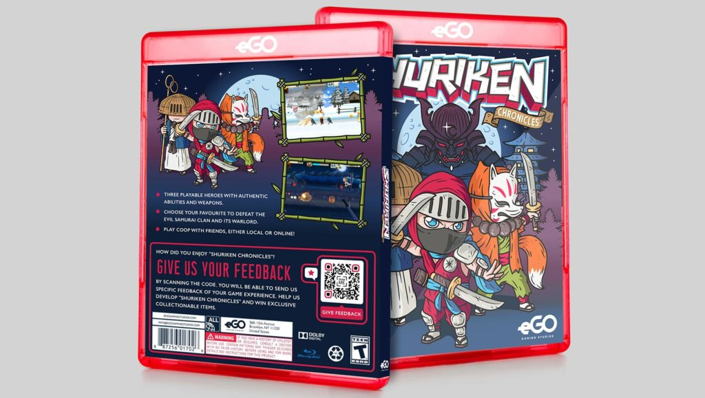Example of a Feedback QR Code on video game product packaging