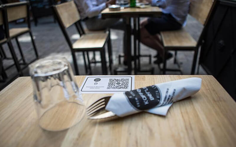 Customers can now access Casabea's menu via a QR Code on a sticker at their restaurant tables with no physical touch