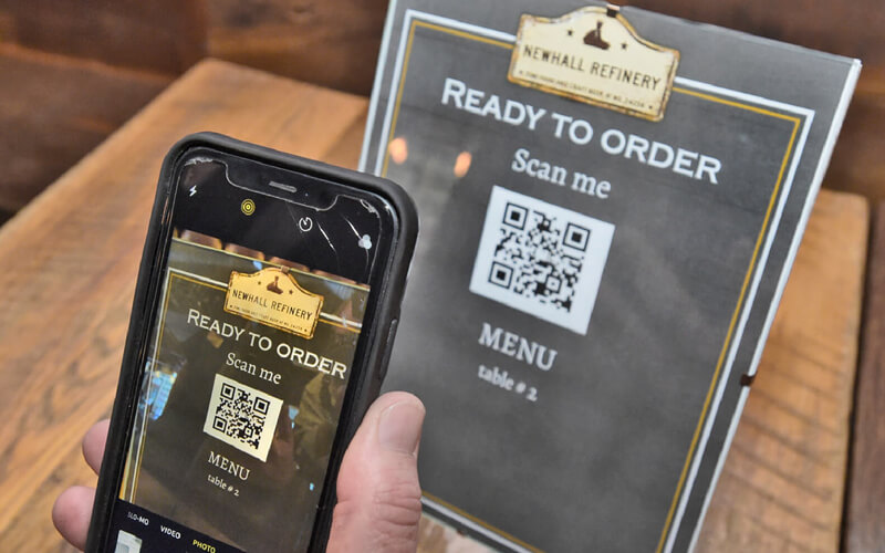 Newhall Refinery's new no-touch menu and payment system work flawlessly due to QR Codes