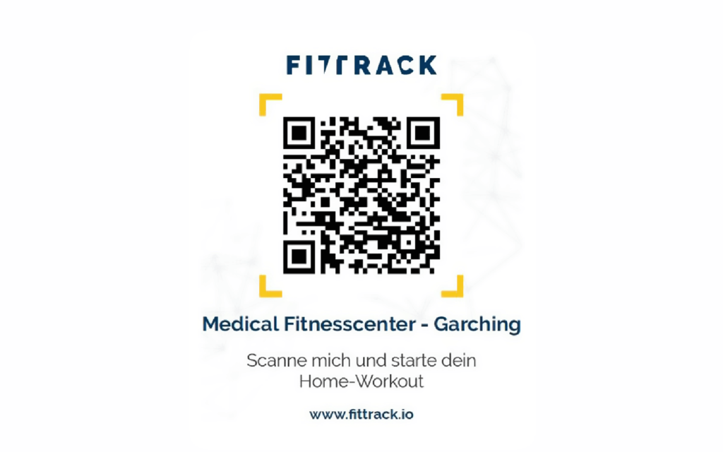 Medical Fitnesscenter connects customers with online workout videos with a QR Code