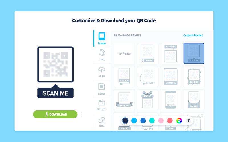 QR Code customization panel in QR Code Generator PRO