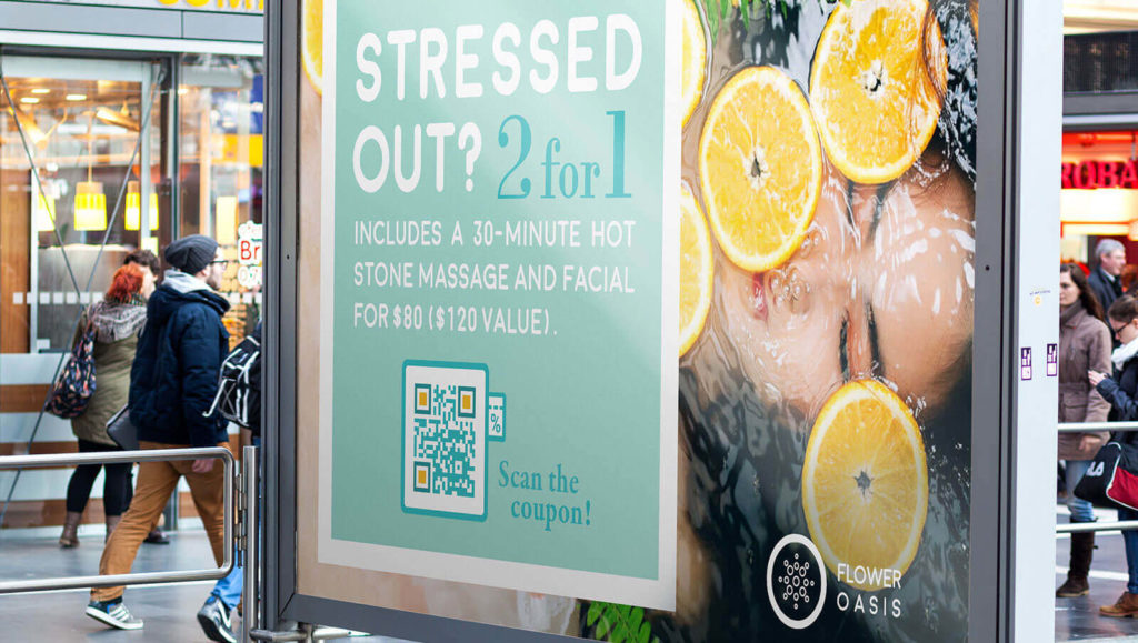 A QR Code on a poster ad makes the entire customer journey calculable