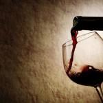 Verticali Vintage vino bicchiere bottiglia