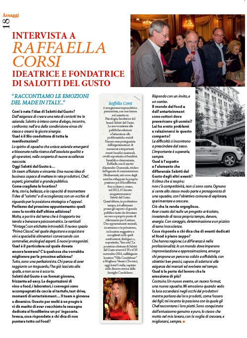 GUSTO SANO – Intervista a Raffaella Corsi