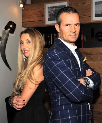 Raffaella Corsi e Alessandro Domanda organizzatori dei Salotti del Gusto Vip Club Cortina