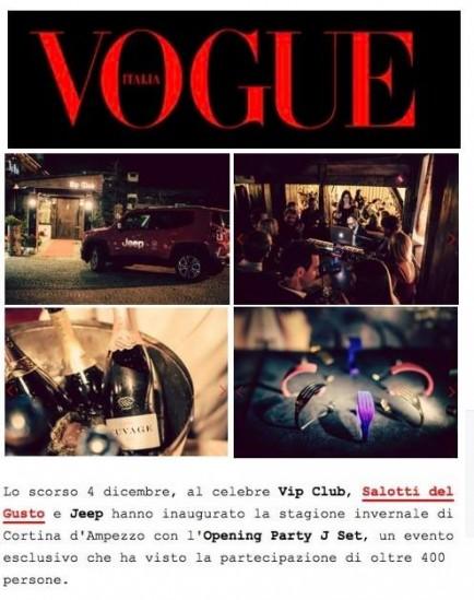 Salotti del Gusto Cortina su Vogue