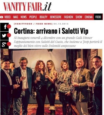 Cortina, i Salotti del Gusto al Vip Club su Vanity Fair