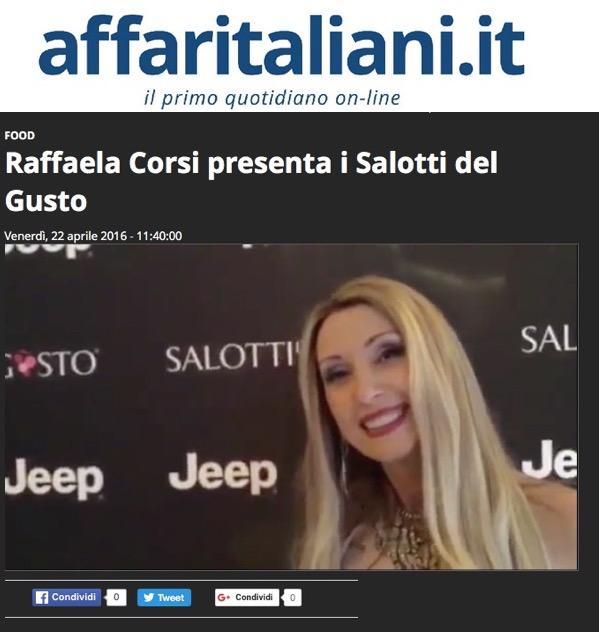 AFFARI ITALIANI – Intervista a Raffaella Corsi