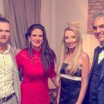 Raffaella Corsi e Alessandro Domanda di Salotti del Gusto con Andrea e Veronica Bocelli