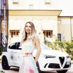Raffaella Corsi di Salotti del Gusto con la nuova Stelvio Quadrifoglio a Strade Stellate Alfa Romeo