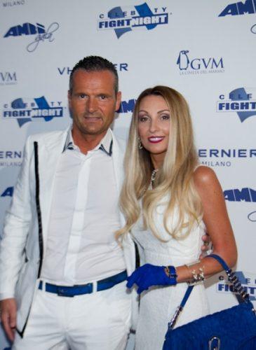 Alessandro Domanda e Raffaella Corsi alla Celebrity Fight Night di Andrea Bocelli