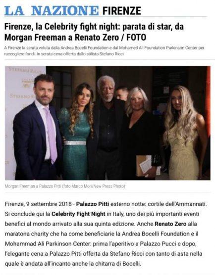 Raffaella Corsi con Morgan Freeman
