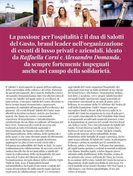 Raffaella Corsi e Alessandro Domanda Salotti del Gusto