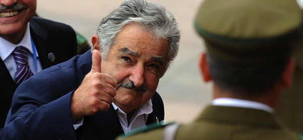 Uruguayan President Jose Mujica arrives at the Chilean Congress to take part in the inauguration ceremony of Chilean President Sebastian Piñera in Valparaiso on 11 March, 2010. Rightwing billionaire businessman Piñera was sworn in as the new president of Chile as three strong aftershocks rocked the quake-hit nation. AFP PHOTO/Evaristo SA (Photo credit should read EVARISTO SA/AFP/Getty Images)