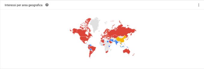 interessi per area geografica alibaba aliexpress e taobao