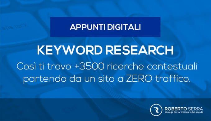 trovare le parole chiave SEO grazie alla keyword research