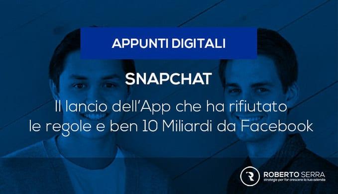 il lancio di snapchat