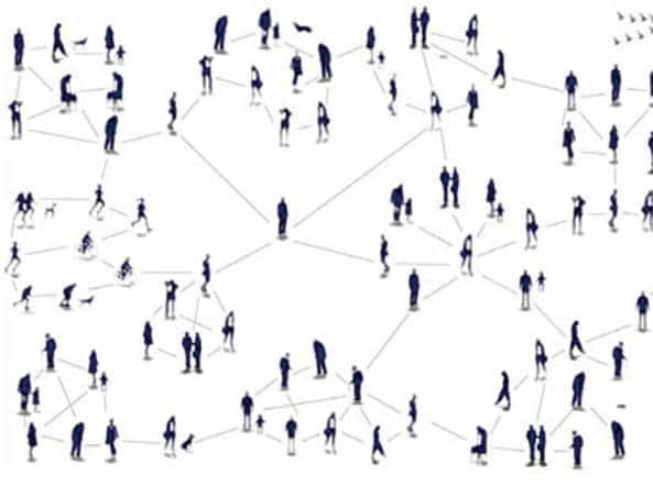 sei gradi di separazione sui social network