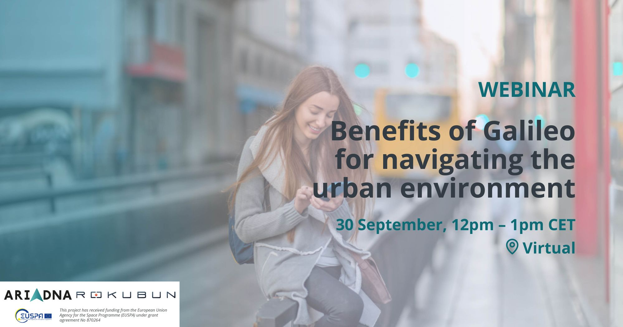 Do you know the benefits of Galileo for urban mobility? Join us on September 30th!