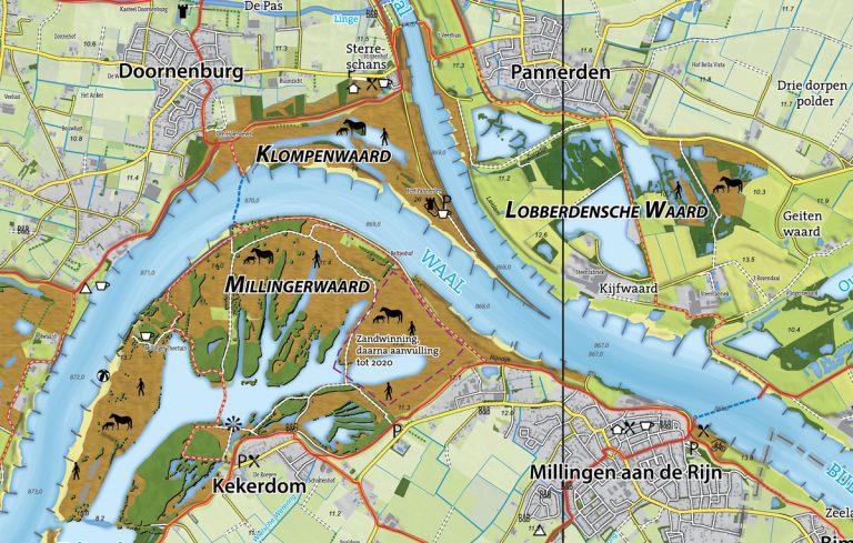 Nieuwe kaart Gelderse Poort