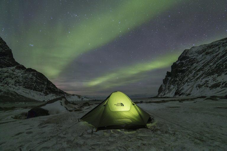 Het noorderlicht op de Lofoten