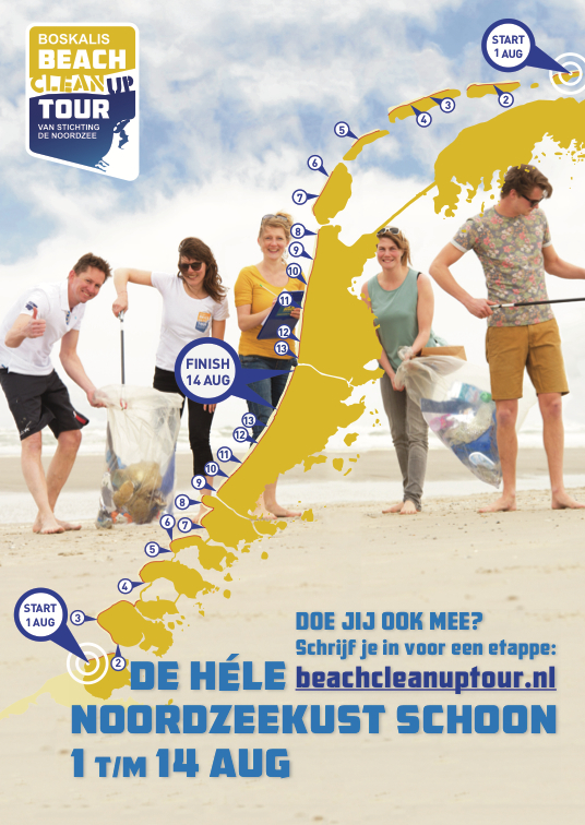 Help mee het strand schoon te maken