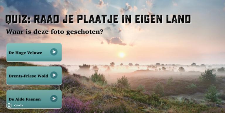 Quiz: hoe goed ken jij Nederland?