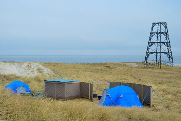 Basecamp Rottumeroog klaar voor vogelwachters