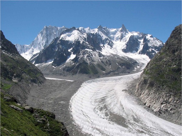 Een glanzendschone gletsjer