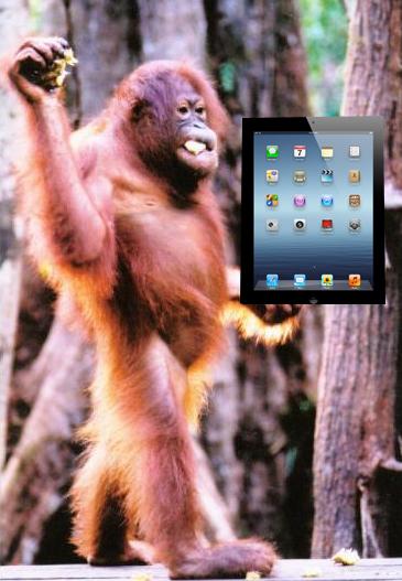 De aap en de iPad