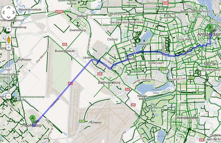 Nu ook fietsen met Google