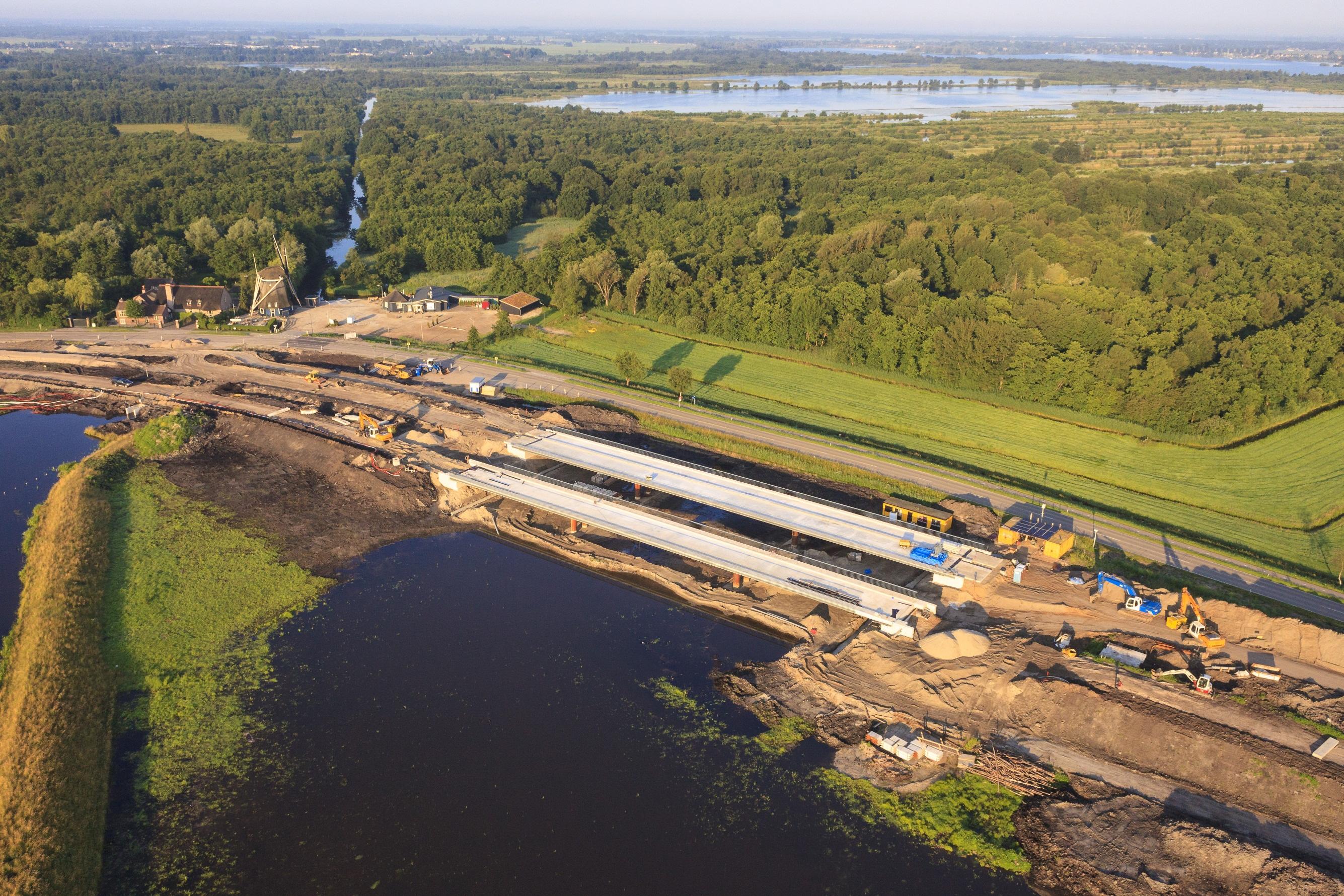 De nieuwe natuurverbinding bij de N236 in aanbouw. Foto Geurt Besselinks, Natuurmonumenten