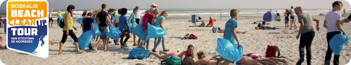 Help ook mee het strand schoon te maken