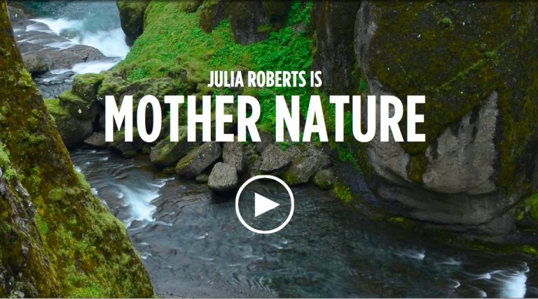 Moeder aarde spreekt met de stem van Julia Roberts