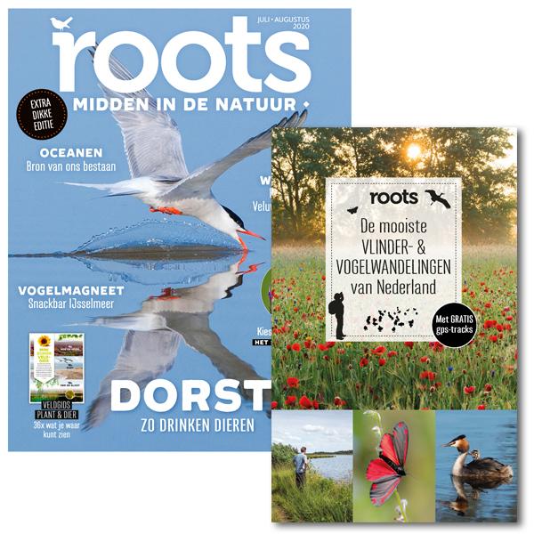 3x Roots + boek: De mooiste vlinder- & vogelwandelingen van Nederland