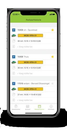 Parkeer app overzicht parkeeracties mobiel