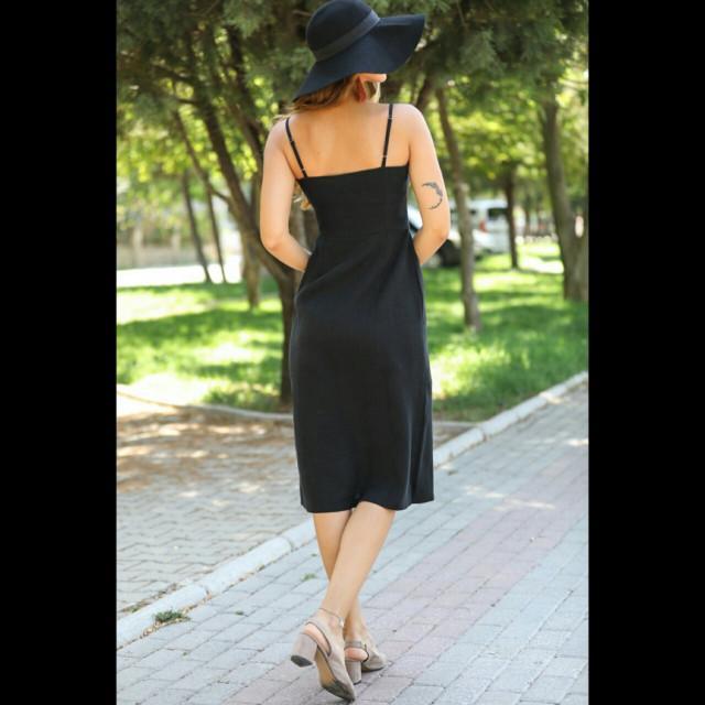 09e367c86 فستان بأزرار اماميه نمط لف EC00014 - قطعتي | Qeteati
