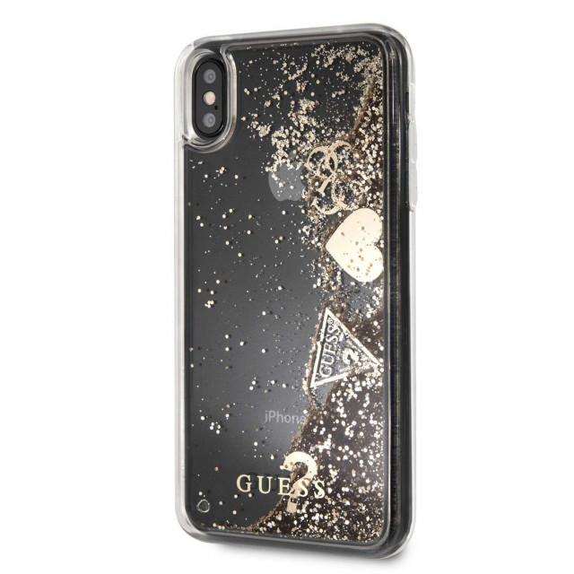 15ab47737 Guess Glitter Hard Case ايفون اكس اس ماكس - ذهبي - يونيك زون | Unique Zone