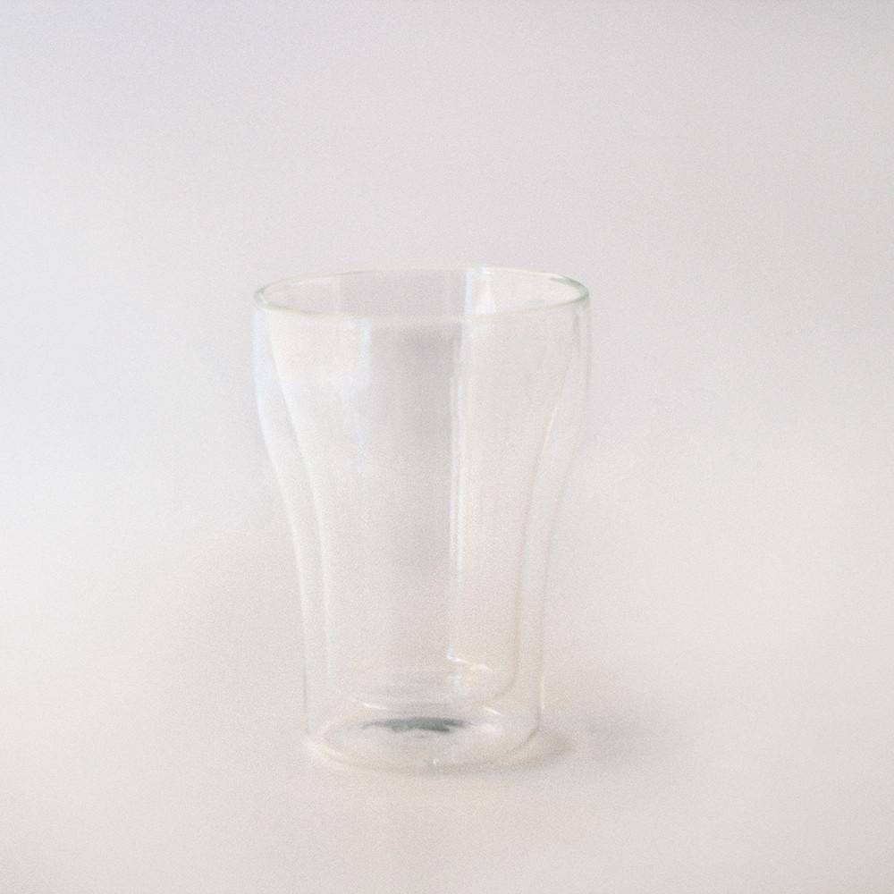 كوب زجاج بطبقة مزدوجة شفاف 250 مل مقاوم للحرارة كوب قهوة كوب عصير كوب
