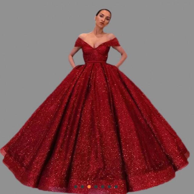 d56fe3bd2 فستان أحمر منفوش - Venus dresses