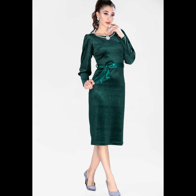 b0faf7526 فستان سهره ازرق عاري الاكتاف مكسي بالتل E00020 - قطعتي | Qeteati